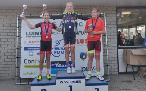 Robin Supèr uit Meppel werd tweede in het klassement bij de meisjes van 12 en 13 jaar.