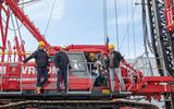 Heiwo-directeur Willem Feenstra was op 7 april aanwezig voor het slaan van de eerste paal.